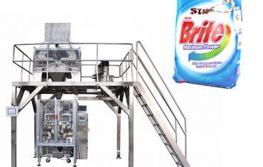 4 cabezas de pesaje lineal detergente detergente en polvo máquina de embalaje