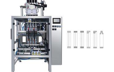 Máquina automática de envasado en polvo con múltiples bolsas en polvo.