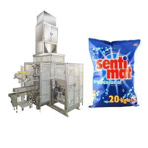 Empaquetadora de boca abierta del polvo detergente de la máquina de embalaje del bolso grande prefabricado automático