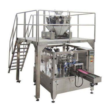 Bolso rotatorio automático de la cremallera de la máquina del envasado de alimentos