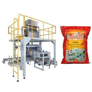Máquina de envasado de bolsas grandes y pesadas de bolsas grandes de arroz para 10kg-50