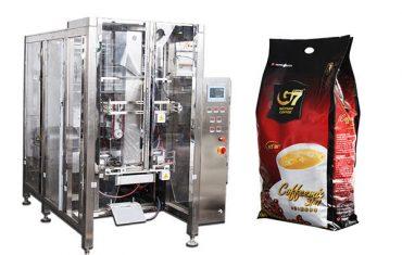 Máquina de envasado de sellado de relleno de forma de bolsa de quad de café