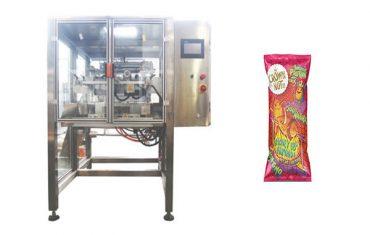 Máquina de llenado y sellado vertical de movimiento continuo.