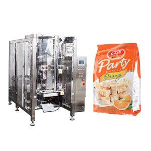 Empaquetadora automática completa de bolsas de alimentos con sello cuádruple