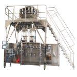 Empaquetadora prefabricada horizontal con pesadora multicabezal