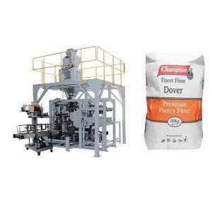 Empaquetadora grande del bolso de la harina de la máquina de empaquetamiento del polvo 20kg con la máquina del lacre