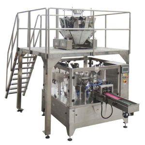Empaquetadora automática rotatoria del sellado del relleno del bolso de la cremallera para las nueces de las semillas