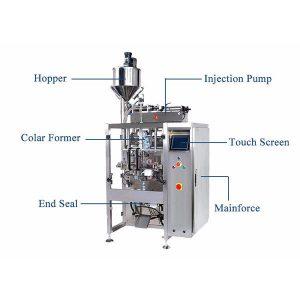 Máquina de sellado de llenado de forma vertical con relleno de pistón para líquido