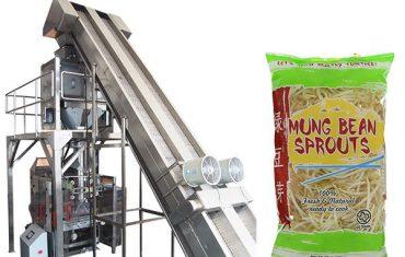 Máquina de envasado de brotes de soja de pesaje completamente automática